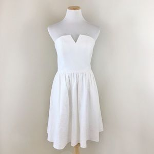 Club Monaco White Strapless Mini Dress